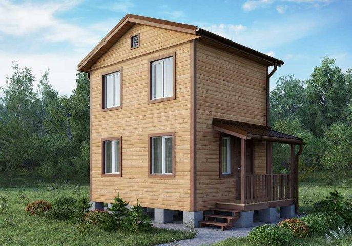 Будинок з бруса Прогрес 6Х4