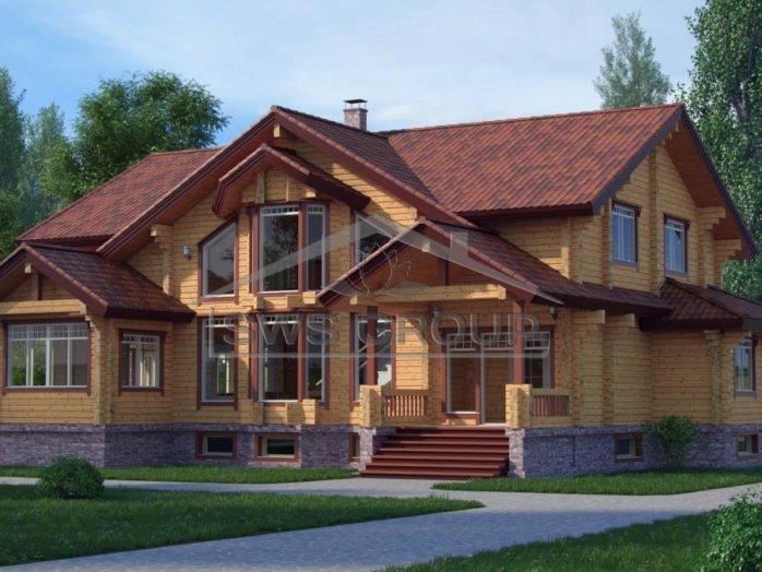 Проект будинку з клеєного бруса